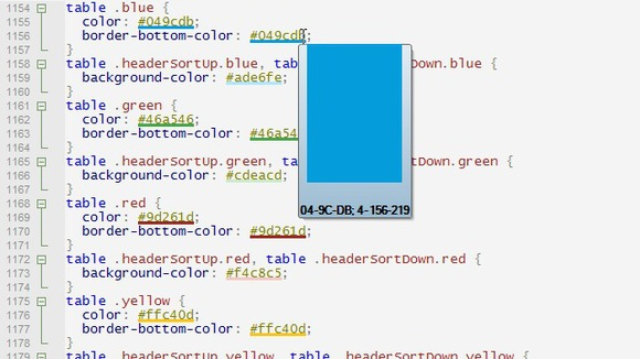View colors as you type - HTML Kit Blog